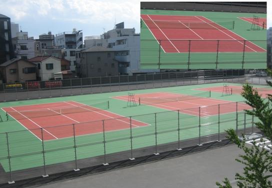 東京都内 テニスコート